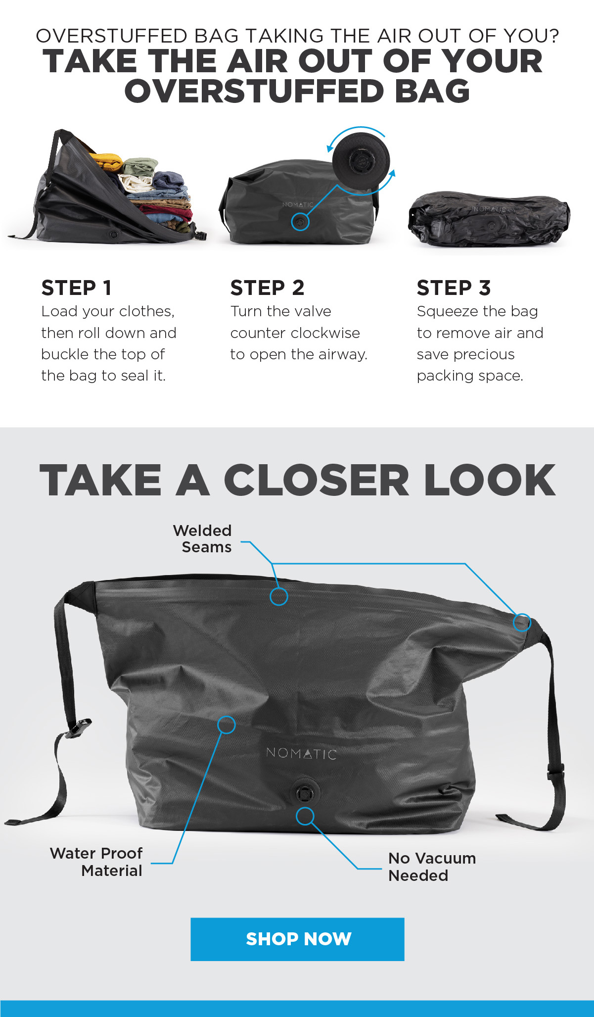 How to use the vacuum bag - SHOP NOW