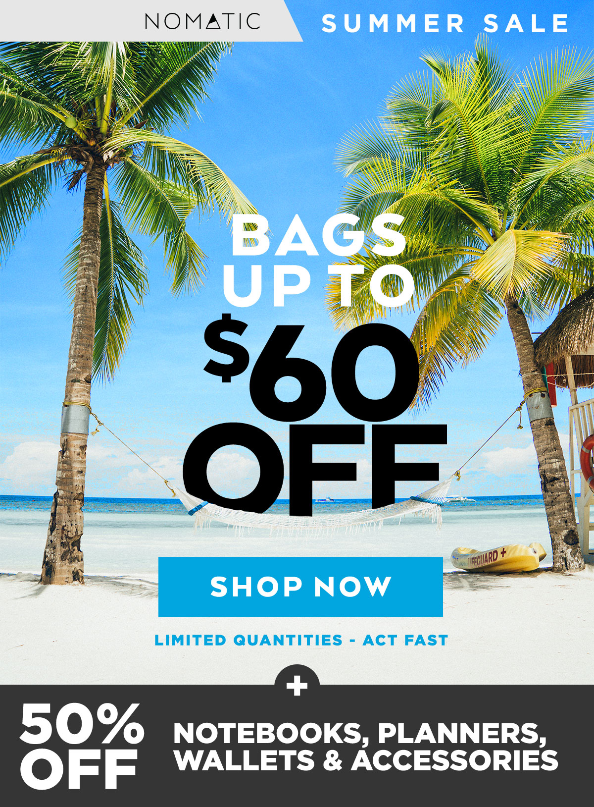 NOMATIC Summer Sale - Bags Up To $60 Off