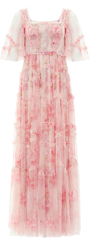 Ruby Bloom Smocked Gown in Butterfly Blush