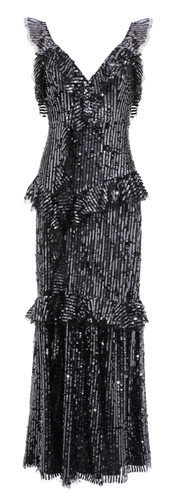 Scarlett Sequin Gown Graphite