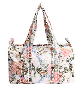 Rose Garden Quilted Shoulder Bag