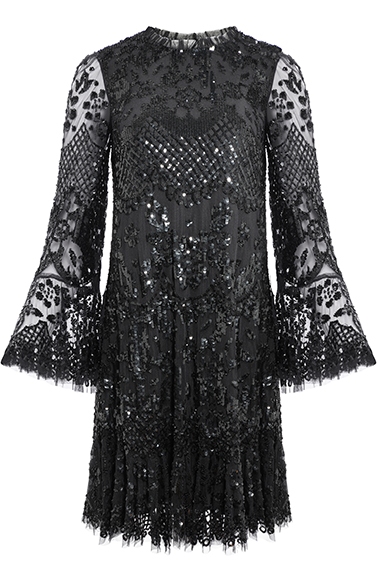 Snowdrop Mini Dress in Ballet Black