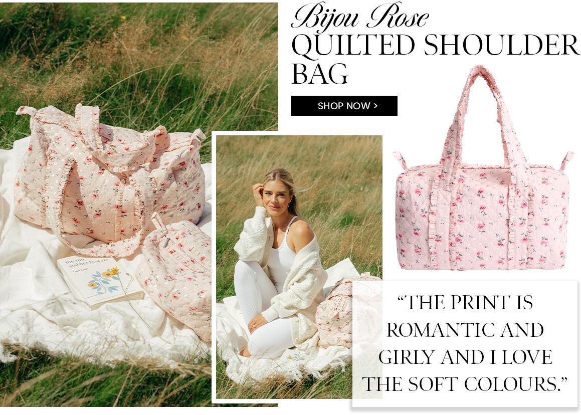 Bijou Rose Quilted Shoulder Bag
