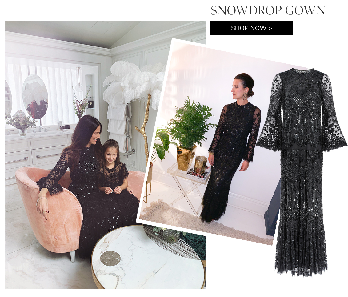 Snowdrop Gown in Ballet Black