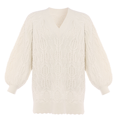 Twisted Cable Longline Jumper