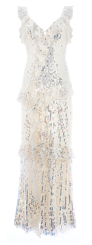 Scarlett Sequin Gown in Champagne / Silver