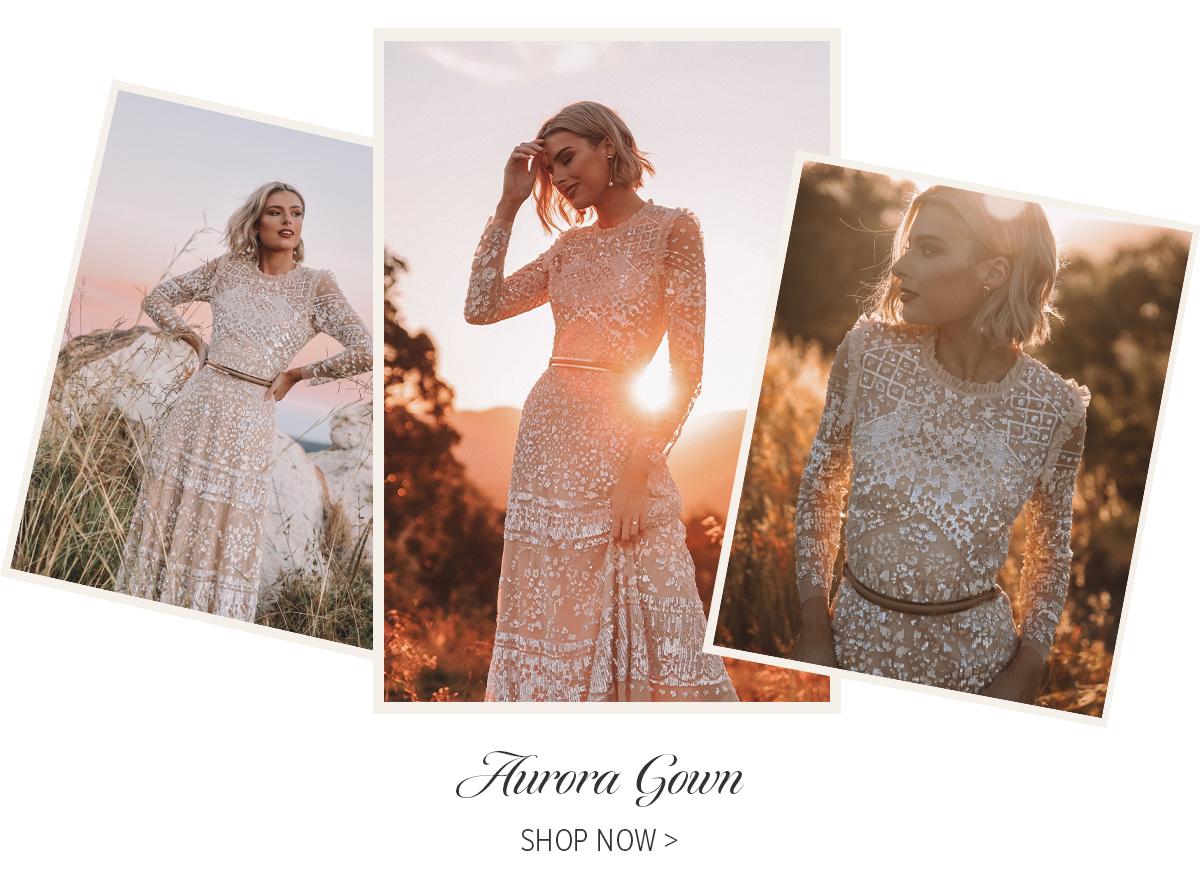 Aurora Gown in Vintage Blossom