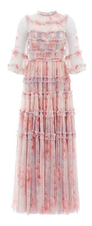 Belleflower Gown in Pink / Blue