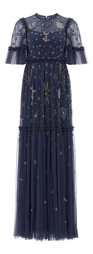Ether Gown in Midnight Blue