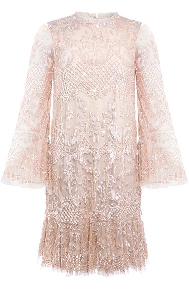 Snowdrop Mini Dress in Pearl Rose / Pink