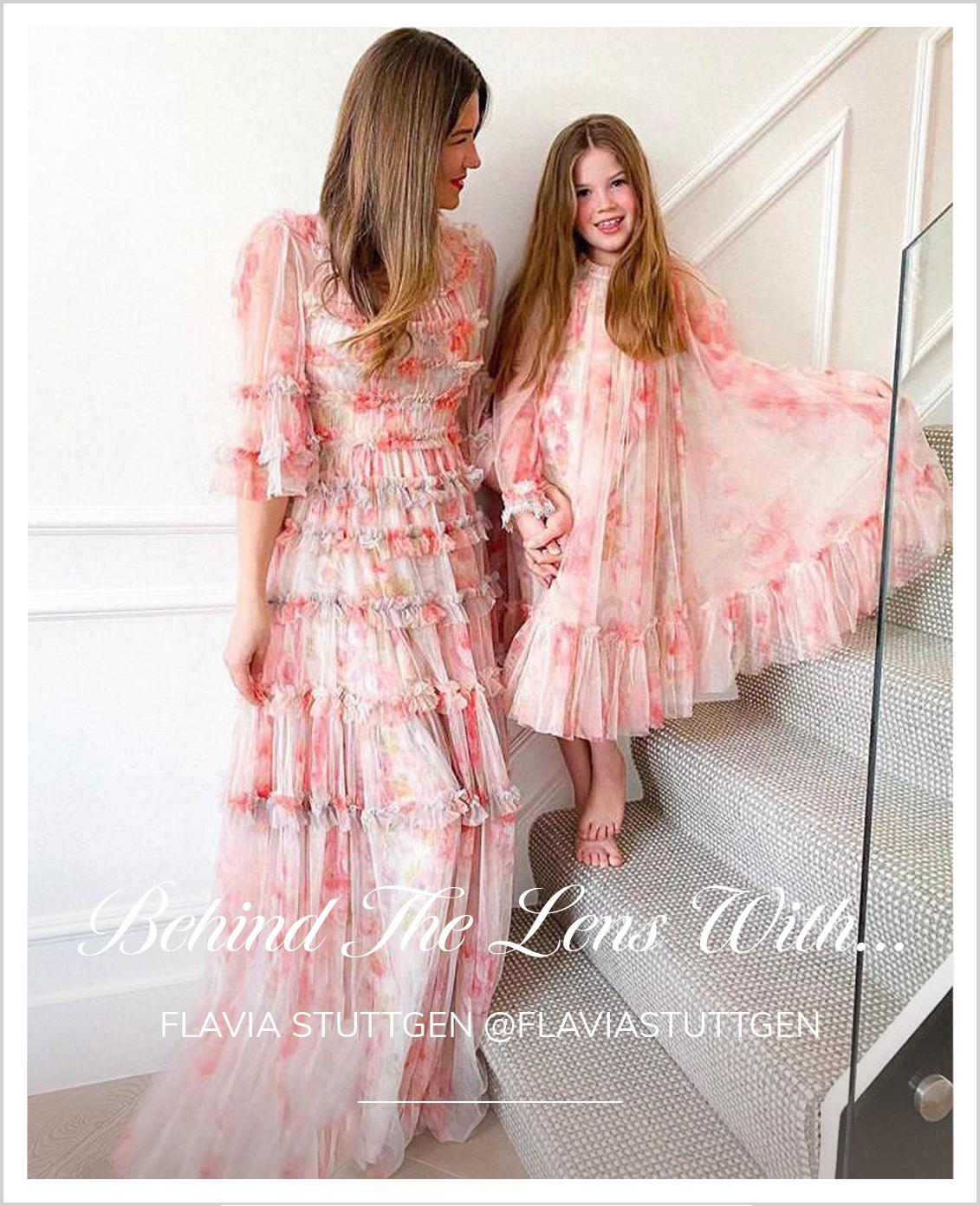 Ruby Bloom Ditsy KIDS Dress in Butterfly Blush