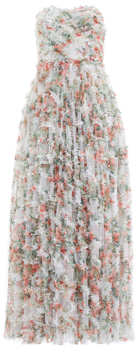 Dancing Roses Ruffle Corset Gown