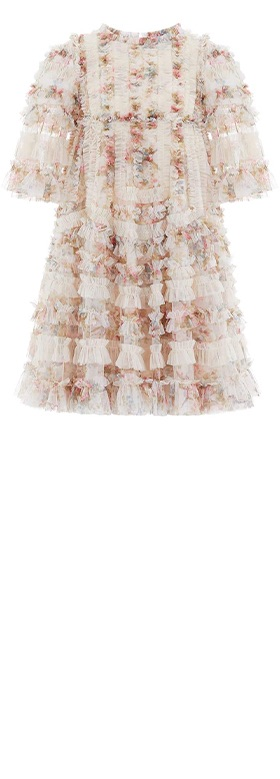 La Vie en Rose Avery Kids Dress Champagne