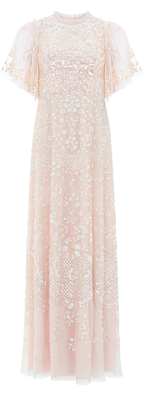 Honesty Flower Gown in Meadow Pink