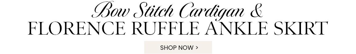 Bow Stitch Cropped Cardigan