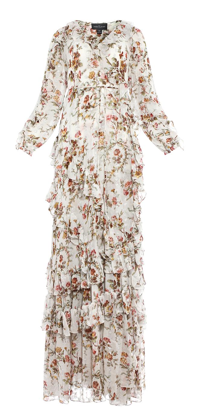 Garland Petal Wrap Gown