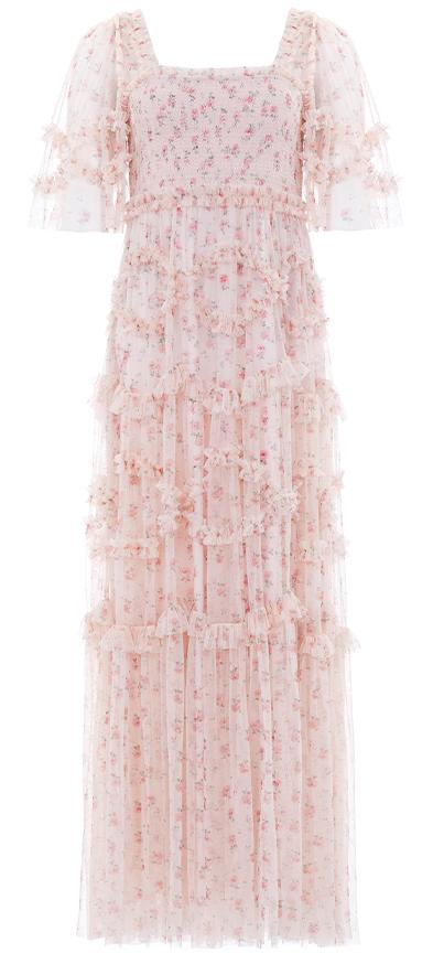 Bijou Rose Smocked Gown