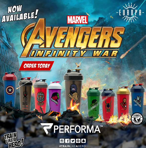 Avengers Infinity War Shaker Bottles Are Here!