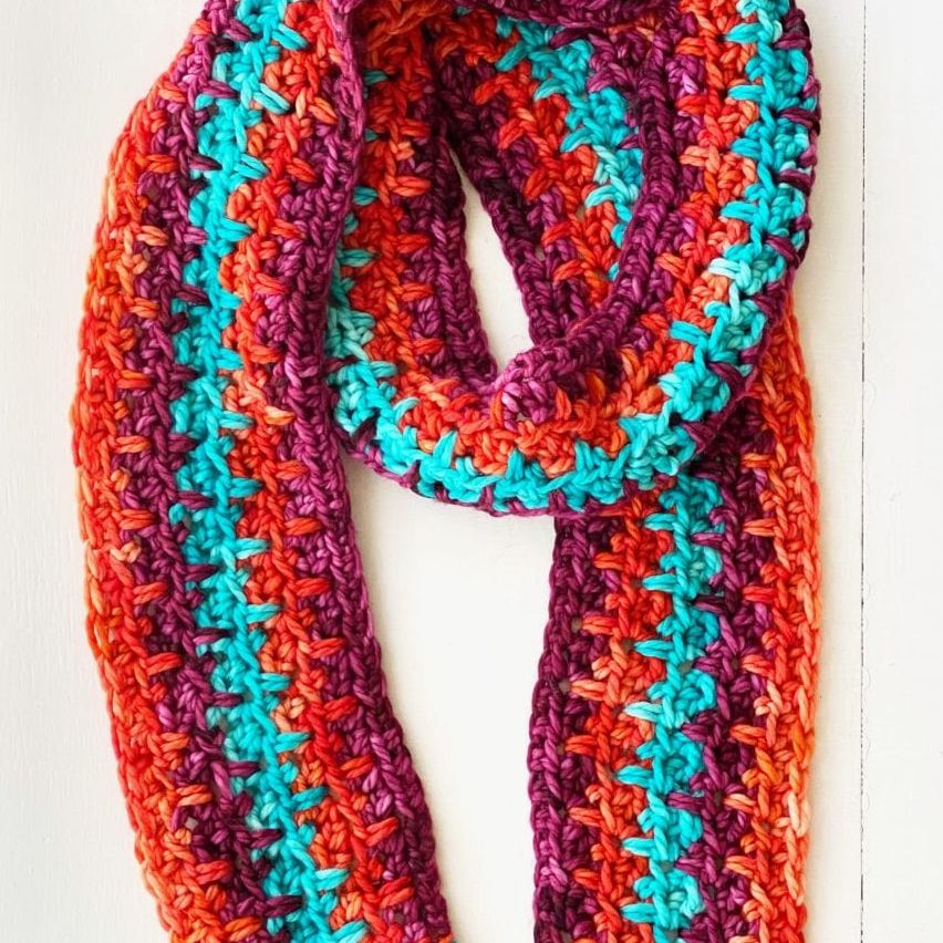 10 Row Crochet Scarf Pattern by Vickie Howell