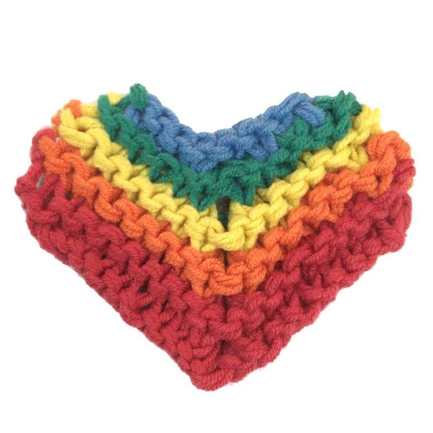 Rainbow Heart Pattern