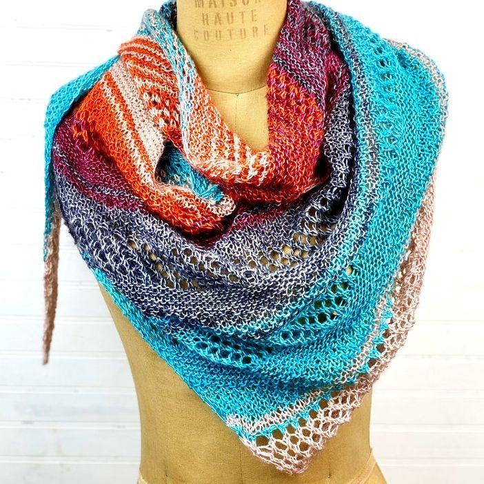 Vivid Valentie Knit Scarf Pattern