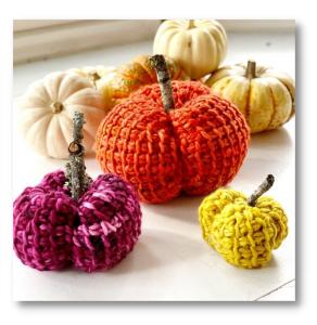 Make Vickie's Tunisian Crochet Pumpkins!
