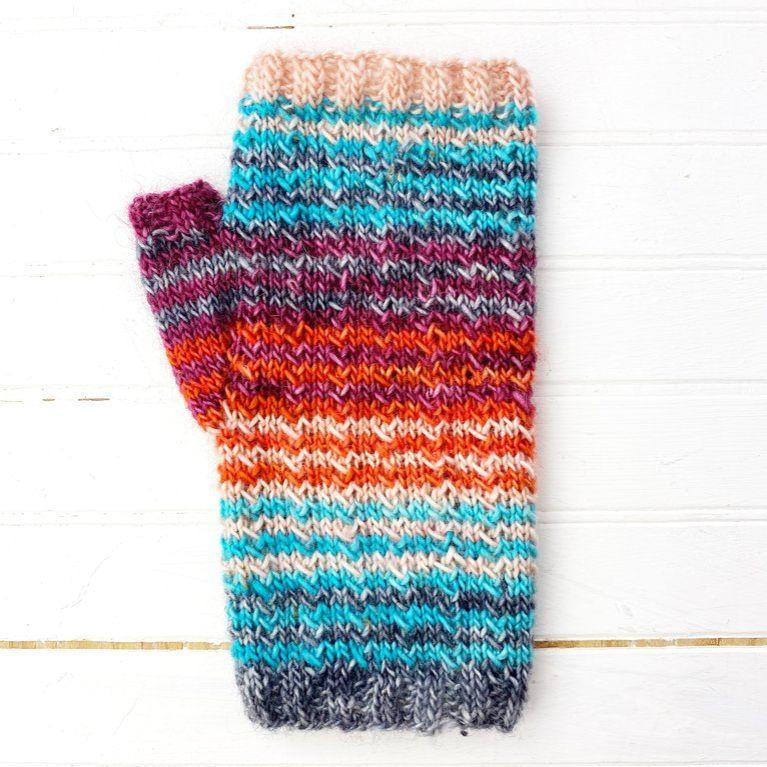 High-Five Wrist Warmers Knit Pattern
