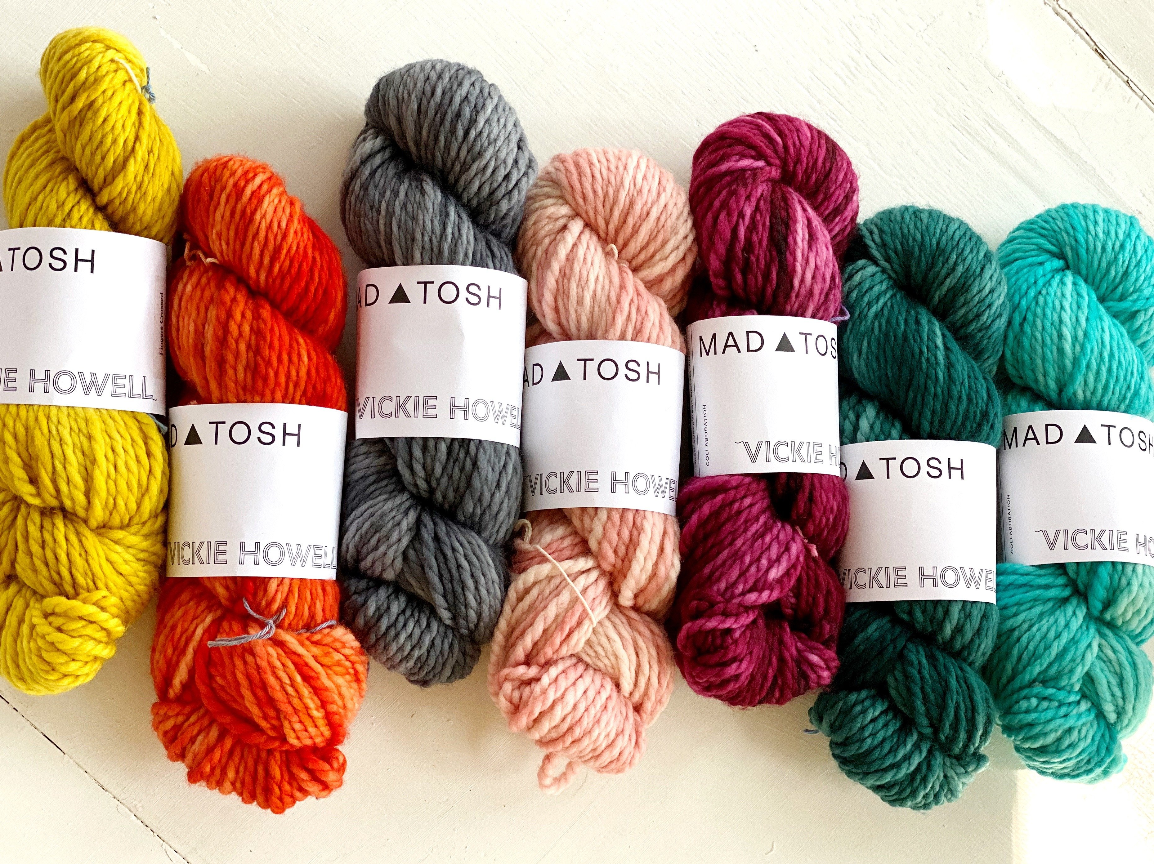 Grand Prize = One of each color of Vickie Howell for MAD   TOSH HOME Collection Yarn