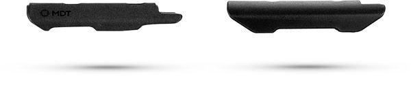 Comparison between MDT Elite Cheek Piece and Standard Cheek Rest Side