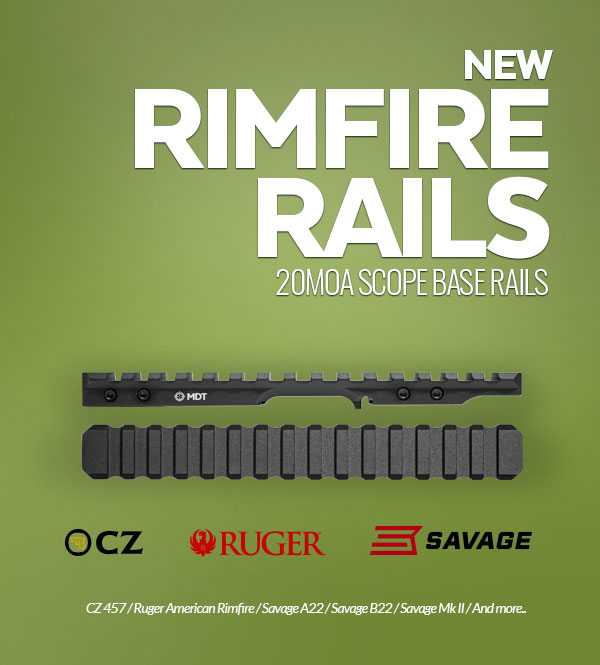 MDT New Rimfire Scope Rails Available