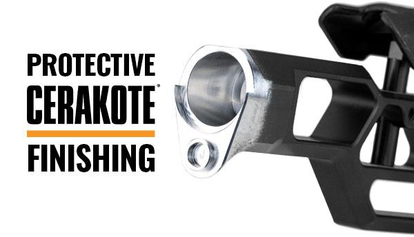 Protective Cerakote finishing over aluminum