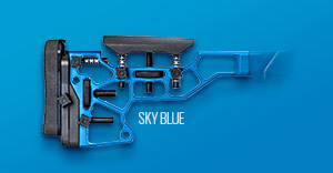 Blue buttstock