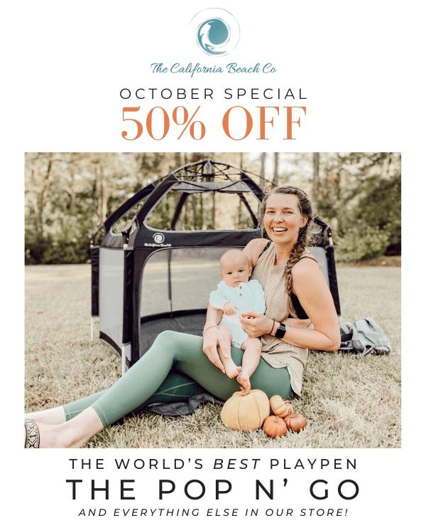 october 50% off sale for playpens