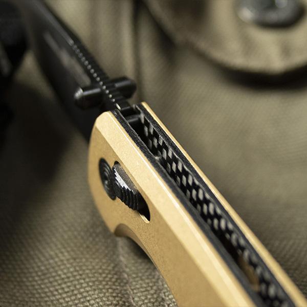Carbon fiber liners + brass handle