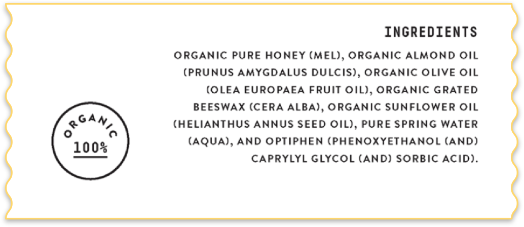 100% Organic Ingredients
