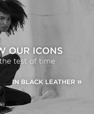 Get to know our icons! Made to sand the test of time! Shop Black Leather