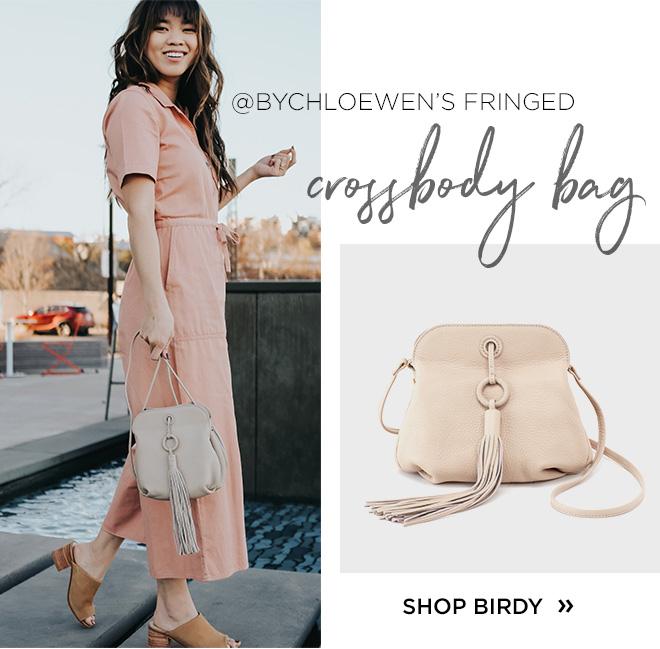 @ByChloeWhen's fringed crossbody bag. Shop Birdy!