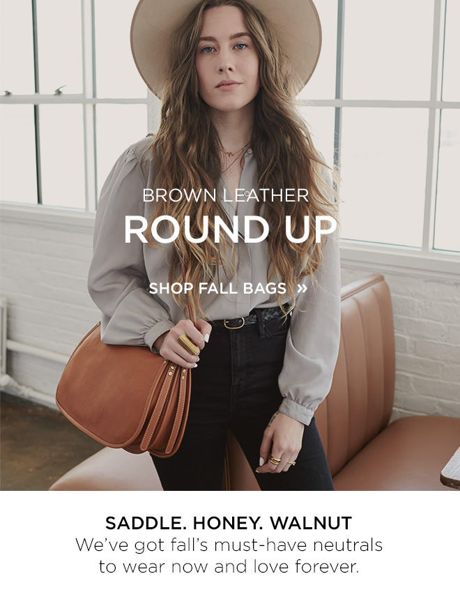 Brown Leather Round Up - Shop Fall Bags