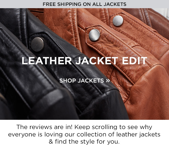 Leather Jacket Edit! The Reviews are in! Keep scrolling to see why everyone is loving our collection of leather jackets and find the style for you