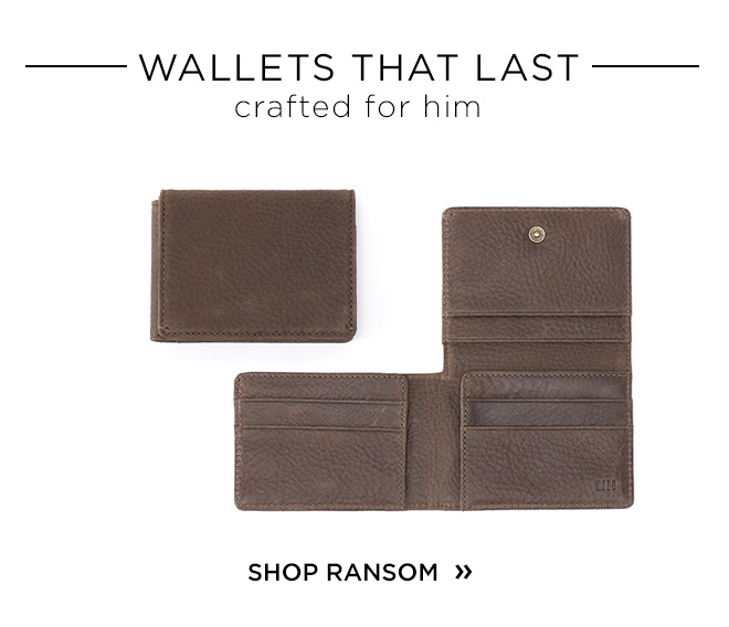 Wallets That Last // Crafted For Him - Shop RANSOM