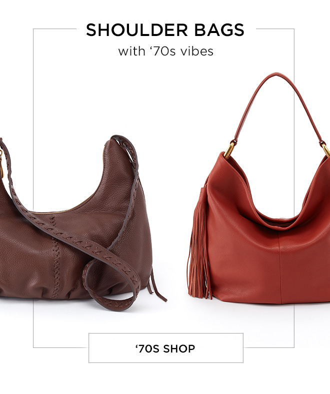 Shoulder Bags with '70s Vibes! Shop Now!