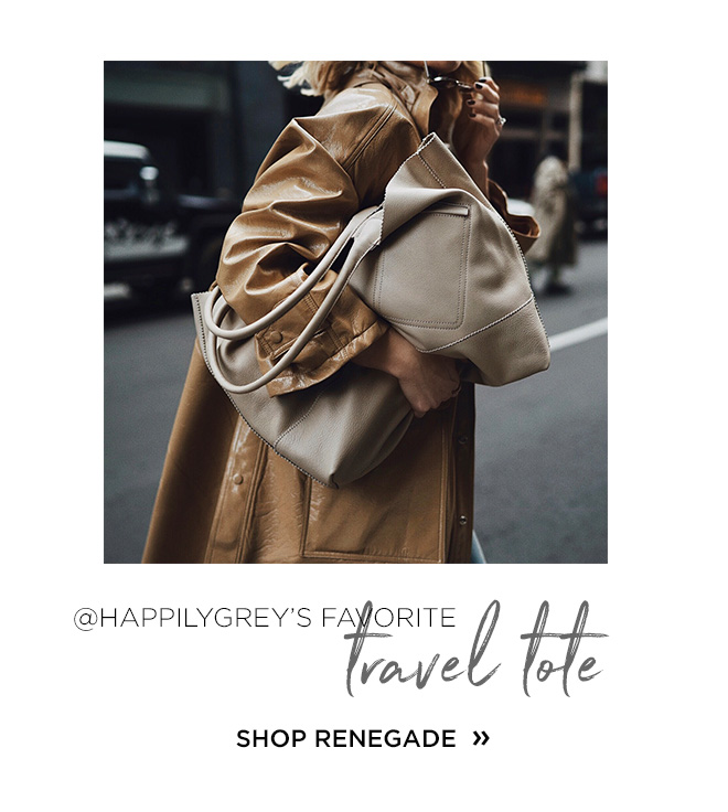 @HappilyGrey's Favorite travel tote, Shop Renegade