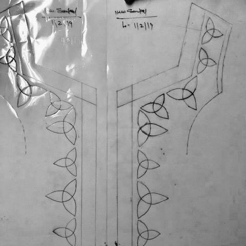 Trinity Embroidery Sketch