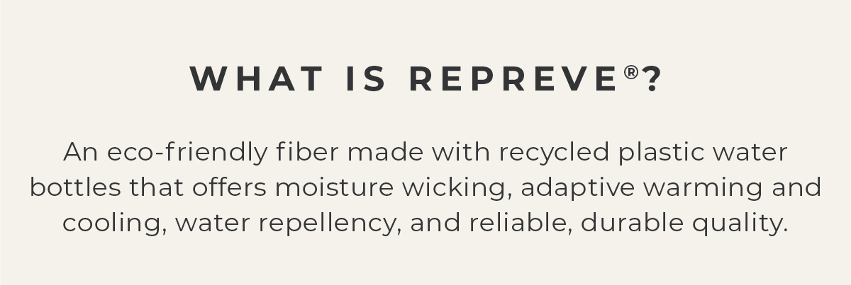 What is Repreve? An eco-friendly fiber made with recycled plastic water bottles