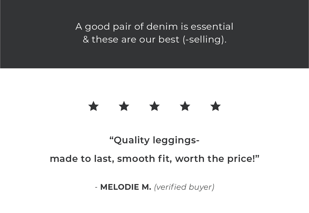 A good pair of denim is essential & these are our best-selling