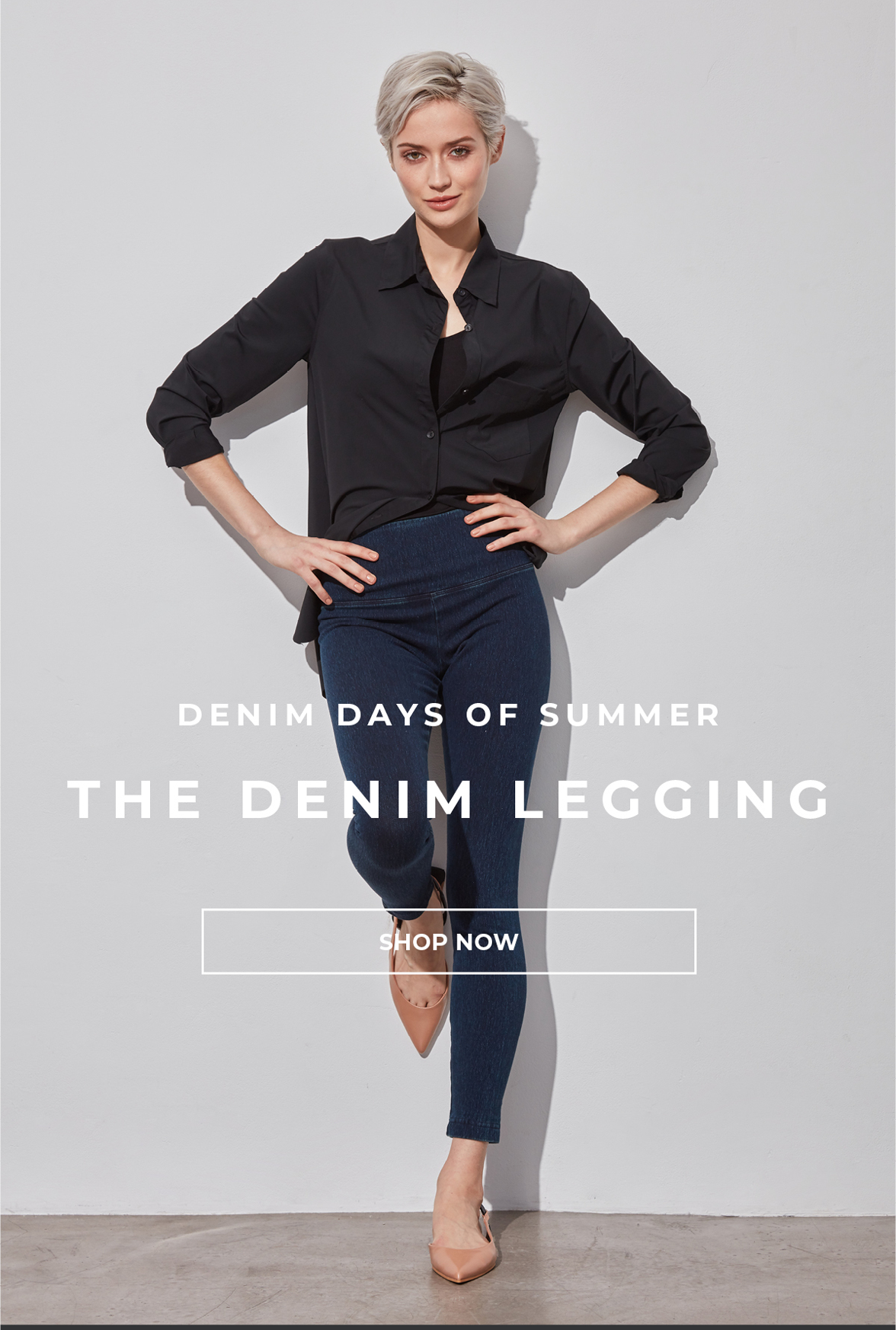 denim days of summer - The Denim legging