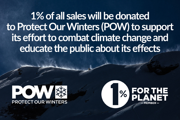 1% For The Planet: 1% Of All Sales Will Be Donated to POW