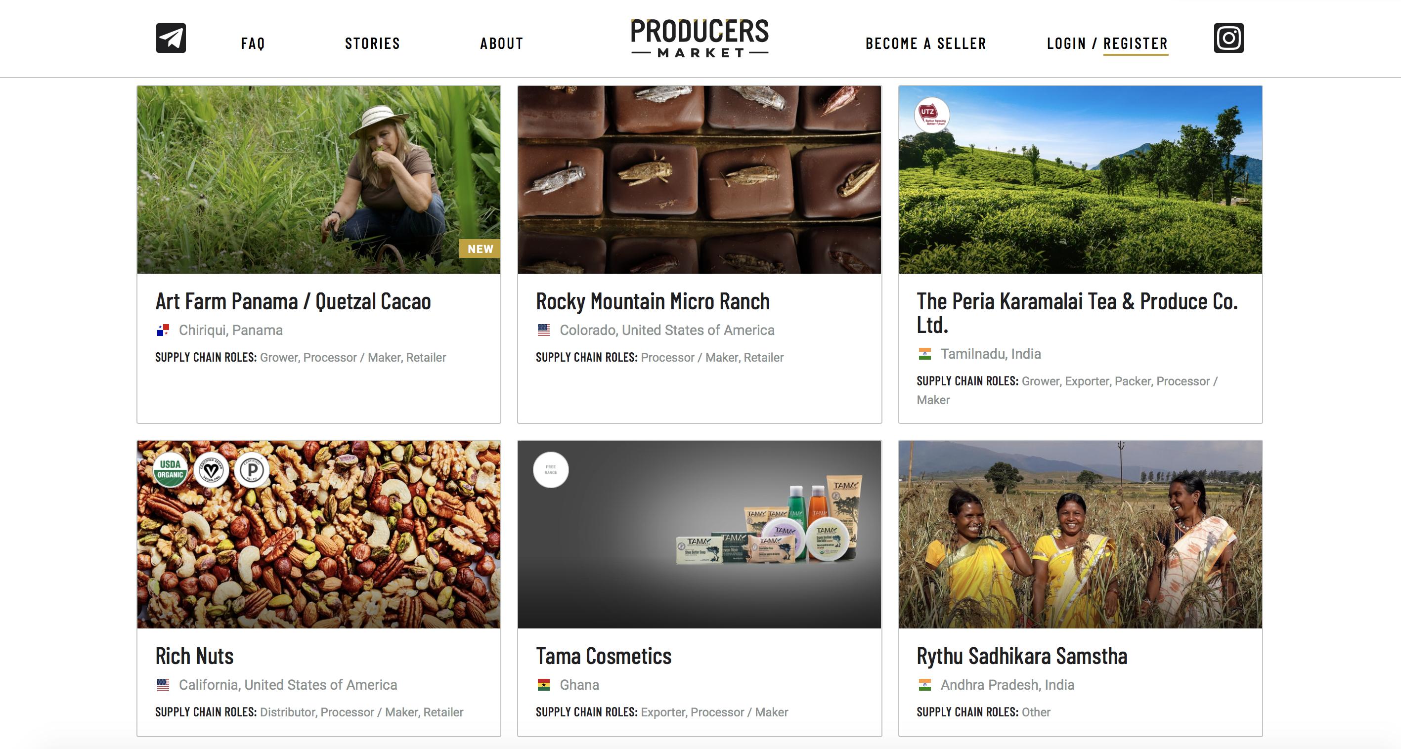 Producer Organization Page