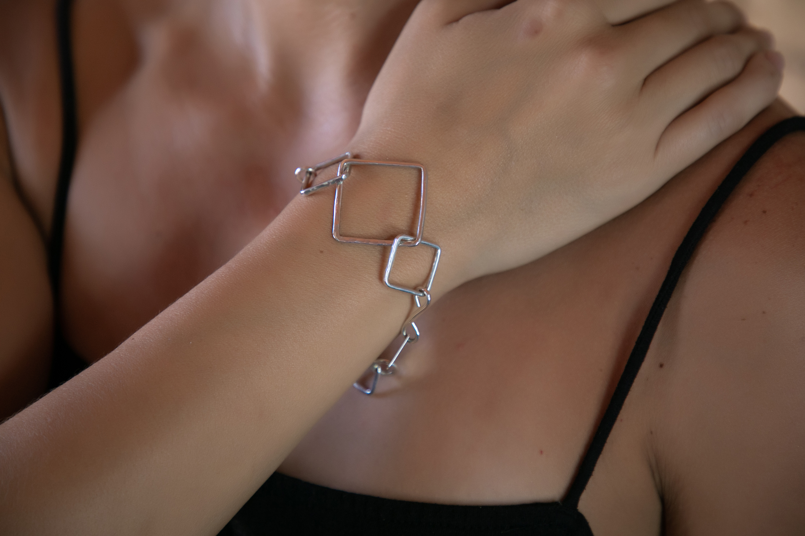 Squares by the foot Bracelet