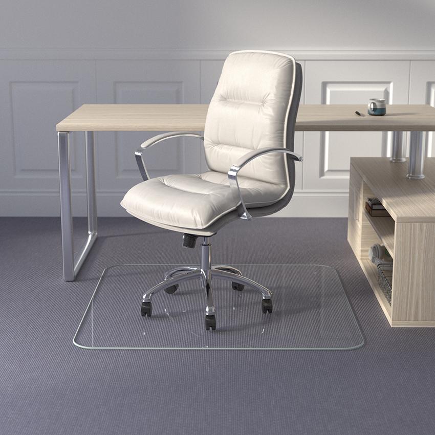 Tabbed Glass Chair Mat
